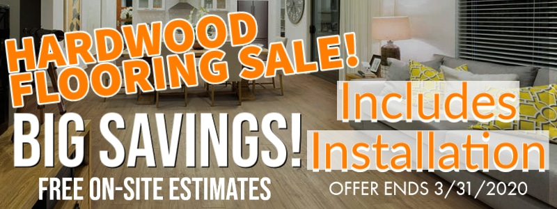 Hardwood Flooring Sale front page