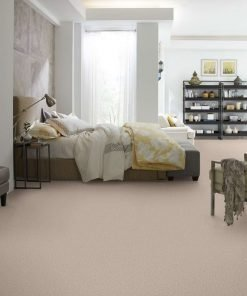 Butter Cream Flooring in a Bedroom