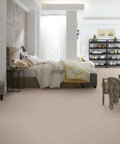 Butter Cream Flooring in a Bedroom