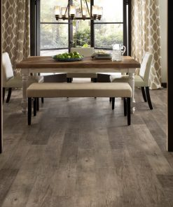 Dockside Driftwood Flooring In a Dining Room
