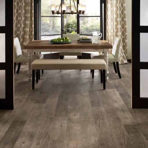 Dockside Driftwood Flooring In a Dining Room