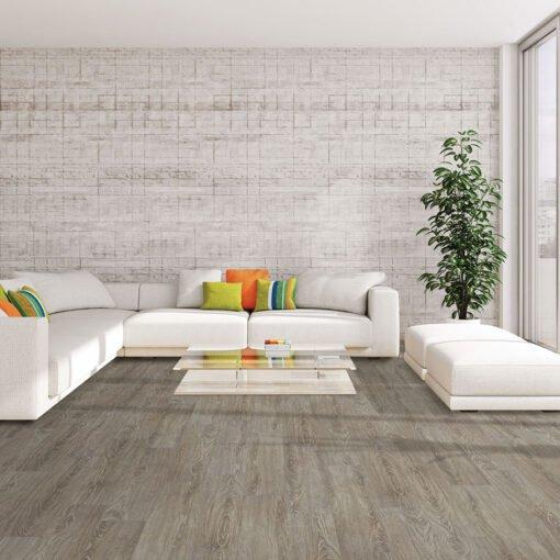 Bronze Wood (#202) Full Room - Sar Vinyl Floors - Versailles Collection