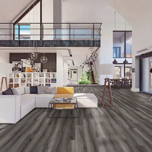 Brushed Earth (#204) Full Room - Sar Vinyl Floors - Versailles Collection