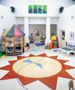Buttercream Yellow 51800 Full Room - Standard Excelon - Armstrong Flooring
