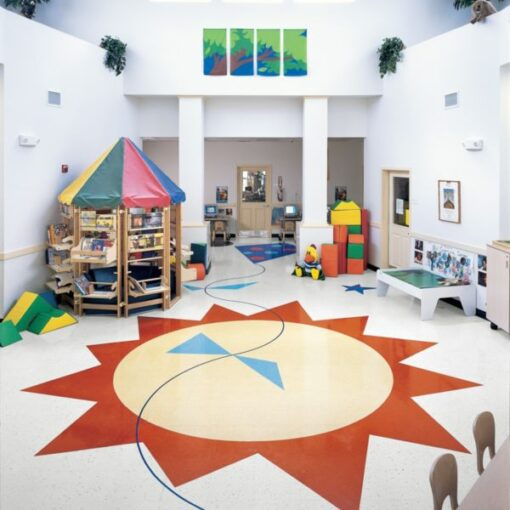 Buttercream Yellow 51800 Full Room - Standard Excelon - Armstrong Flooring