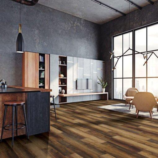 Copper Oak (#205) Full Room - Sar Vinyl Floors - Versailles Collection