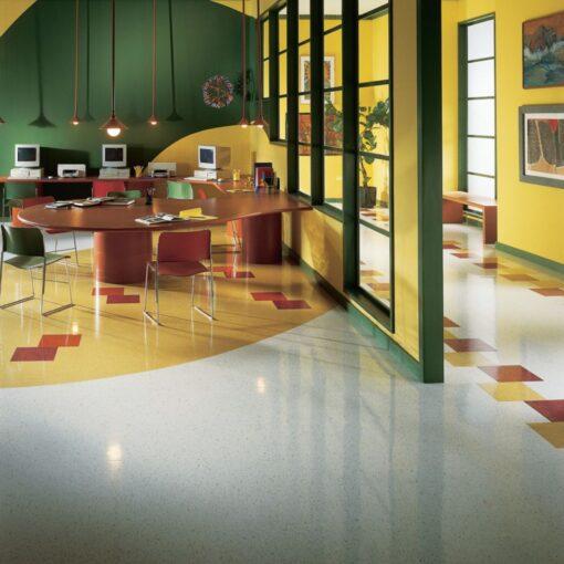 Jubilee White 52514 Full Room - Standard Excelon - Armstrong Flooring