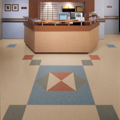 Tea Garden Green 51872 Full Room - Standard Excelon - Armstrong Flooring
